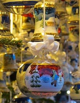 Glass Ball, Christmas, Christmas Market, Christmas Bude