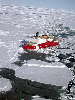 Antarctica, Ship, Coast Guard, Cutter, Chunks, Blocks