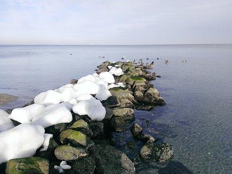 Timmendorfer-strand, Baltic Sea, Winter, Beach, Cold