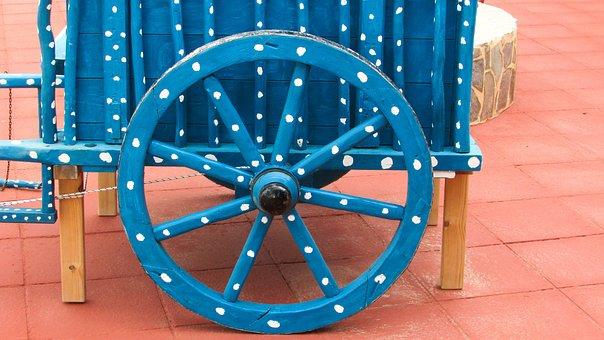 Cyprus, Ayia Napa, Restaurant, Wheel, Wagon