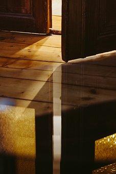 Wood, Door, Reflection, House, Texture, Light, Wall