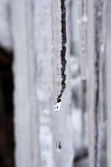 Ice, Icicle, Drip, Defrost, Cold, Winter, White, Frost
