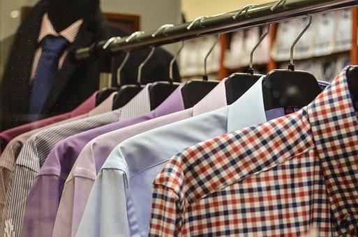 Shirts, Hangers, Exhibition, Shop, Shopping, Shelf, Buy