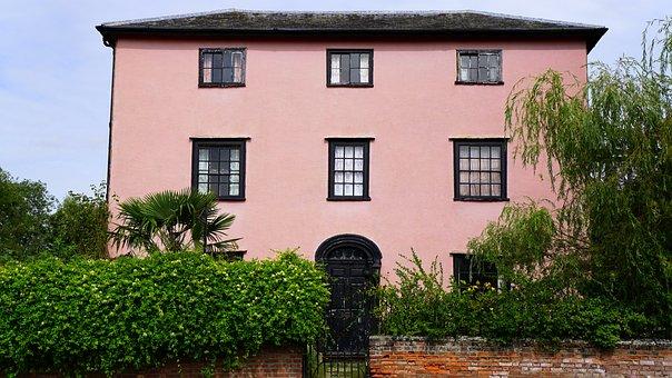 House, Pink, Home, Sky, Building, Property, Exterior