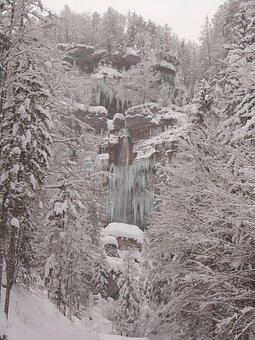 Slovenia, Landscape, Winter, Snow, Ice, Icicles