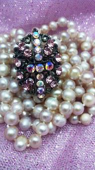 Crystal, Pearl, Freshwater, Strand, Necklace, Ring