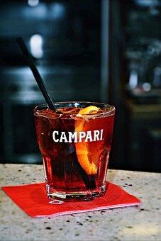 Campari, Negroni, Cocktail, Bar, Drink