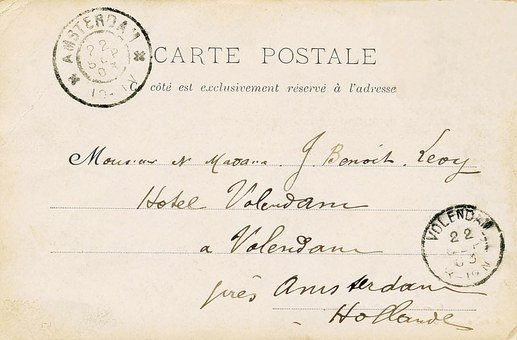 Old, Post Card, French, Paris, Vintage, Retro, Card