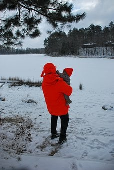 Baby, Infant, Outdoor, Winter, Snow, Small, Hunting Hat