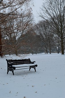 Bench, Winter, Season, Seat, Cold, Snow, Outdoor, Frost