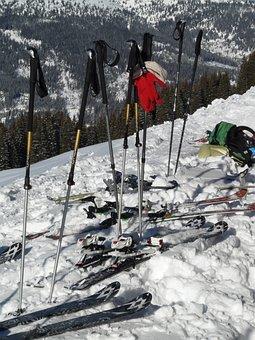 Ski Poles, Sticks, Ski, Touring Skis
