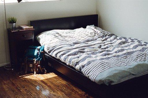 Bedroom, Sleeping, Bed, Furniture, Interior, Sleep