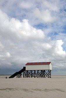 St Peter Ording, Flood, Schleswig-holstein, Sky, Storm