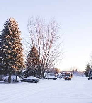 Winter, Bus, Road, Travel, Snow, Street, Driving, Cold