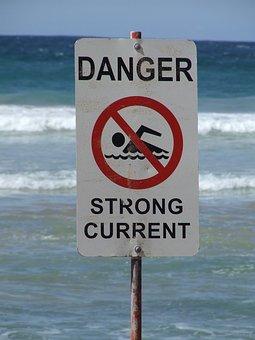 Sign, Danger, Surf, Safety, Warning, Dangerous, Hazard