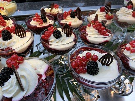 Rote Grütze, Desert, Sweet Dish, Sweet, Chocolate