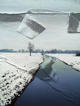 Paper, Bent, Torn, Cracks, Kink, Fold, Effect, Art