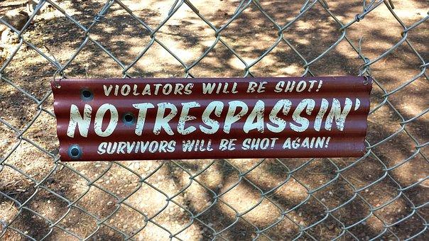 No Trespassing, Sign, Trespassing, Danger, Warning