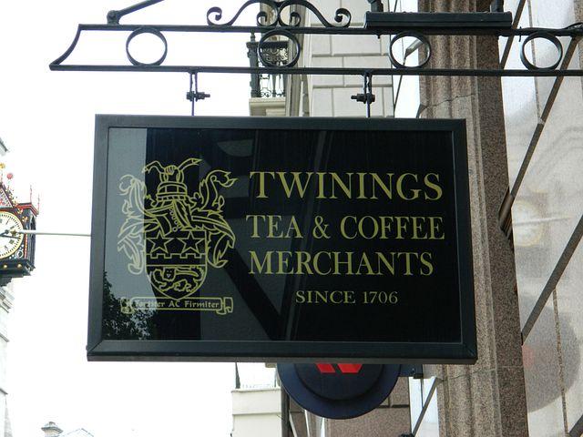 Twinings, Tea, Strand, Sign