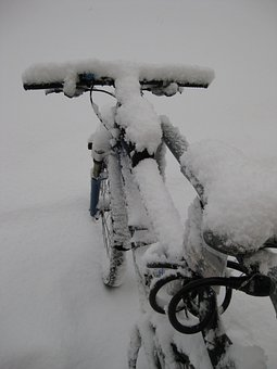 Mountain Bike, Bike, Snowed In, Snow, Winter