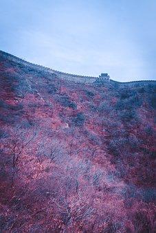 China, Great Wall, Beijing, Wall, Building, Mountain