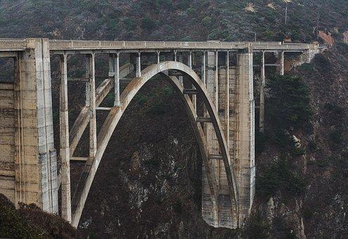 Bridge, Highway, One, California