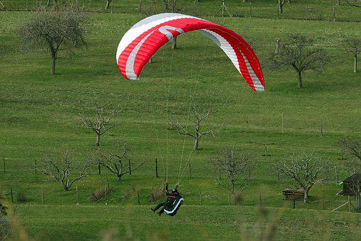 Paragliding, Flying, Parachute, Sport, Paraglider