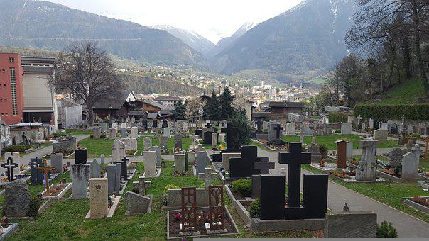 Cemetery, Graveyards, Tombs, Mountains, Brig