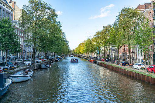 Amsterdam, Canal, Holland, Tourism, Building, Cityscape