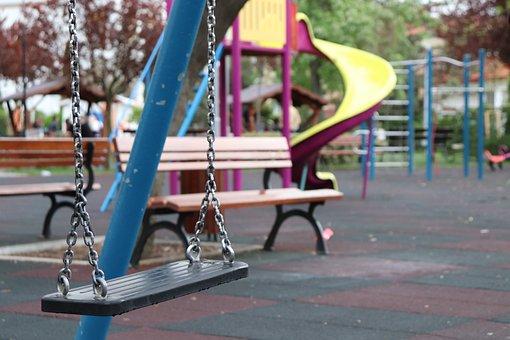 Playground, Slide, Swing, Play, Children, Park