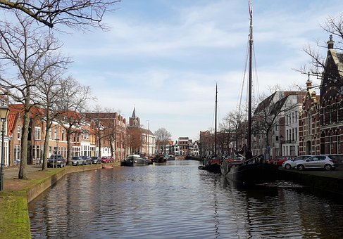 Channel, Boats, City, Port, Korte Haven, Schiedam