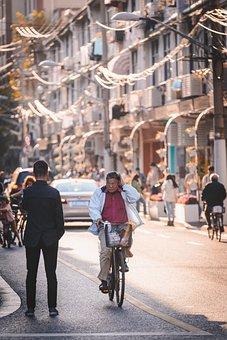 Bike, Old Man, Street, Road, Man, Cycling, Travel