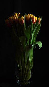 Flowers, Tulips, Flower Vase, Bouquet, Emotions, Nature