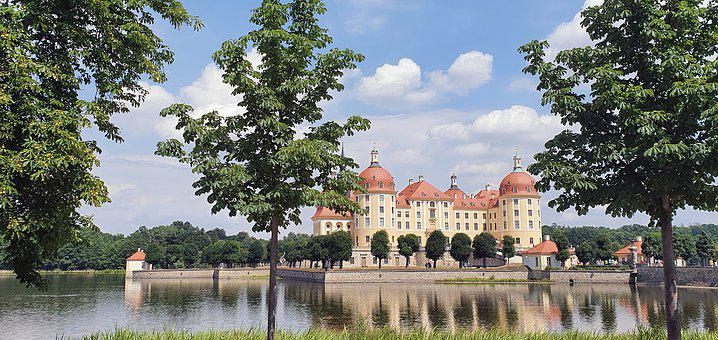 Dresden, Moritz Castle, Saxony, Castle, King, Water
