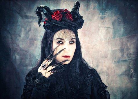 Gothic, Girl, Fantasy, Witch, Dark, Horror, Woman
