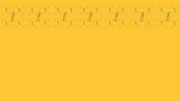 Candles, Border, Background, Yellow, Copy Space