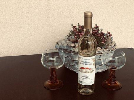 Wine, Glasses, Bottle, Wine Bottle, Wine Glasses