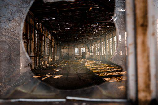 Window, Broken, Abandoned, Building, Interior, Ruin
