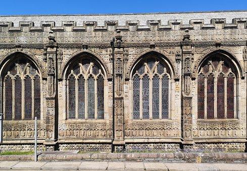 Church, Windows, Architecture, Building