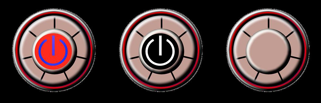 Button, Control, Icon, Press, Push, Electric
