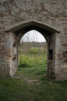 Doorway, Stone, Ruin, Church, Covehithe, Suffolk