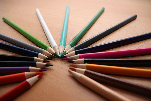 School, Crayons, Children, Color, Draw, Creative