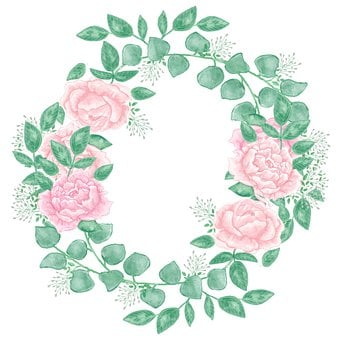 Roses, Wreath, Graphic, Clip Art, Decoration, Email