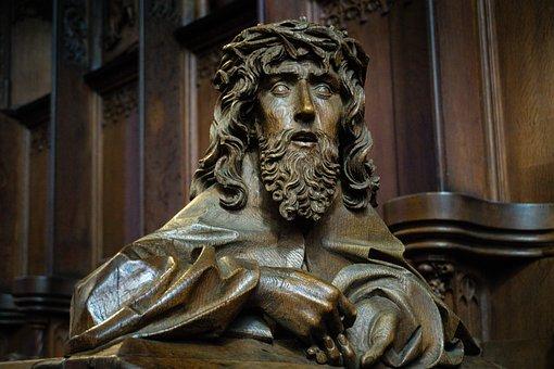 Sculpture, Wood, Jesus, Wood Carving, Religion, Face