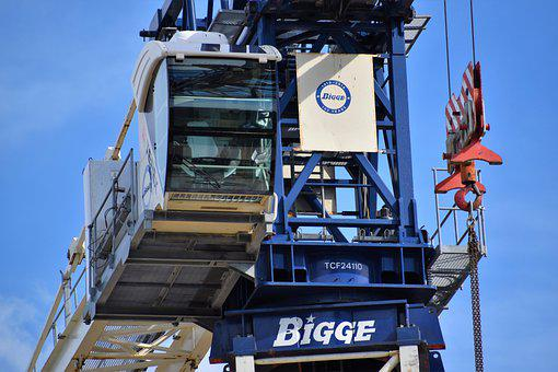Tower Crane, Construction, Heavy Equipment, Hook, Cable