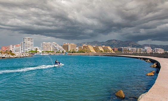 Jet Ski, Spanish Coastal City, Vacation, Water Sports