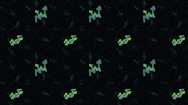 Arrows, Music Notes, Direction, Pattern, Background