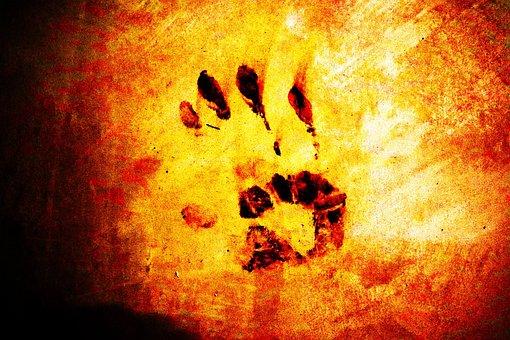 Handprint, Halloween, Dark, Blood, Terror, Horror