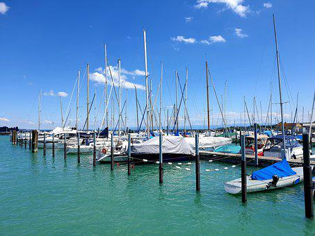 Port, Boats, Ships, Yacht, Lake Constance, Travel