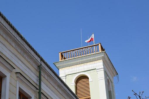 Tower, Building, Flag, Flag Of Poland, National Flag